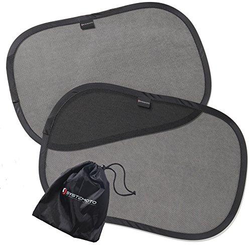 2er set sonnenschutz auto von systemoto selbsthaftender kinder baby auto sonnenschutz mit. Black Bedroom Furniture Sets. Home Design Ideas