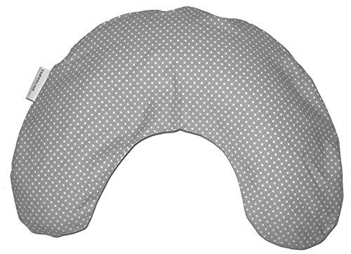 theraline nackenkissen mittel mikroperlenf llung inkl bezug ca 100 c x 21 cm punkte grau. Black Bedroom Furniture Sets. Home Design Ideas