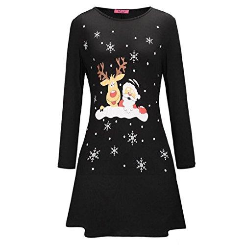 kleid damen minikleid partykleid,weihnachten brief hirsch