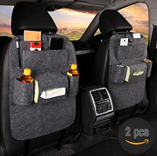 2 pcs fristee r ckseite sitz auto organizer f r kinder mit tablet halterung mit kick matte und. Black Bedroom Furniture Sets. Home Design Ideas