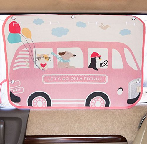 sonnenschutz auto f r kinder und babys sonnenblende f r autofenster pink bus tokkids lapitni. Black Bedroom Furniture Sets. Home Design Ideas