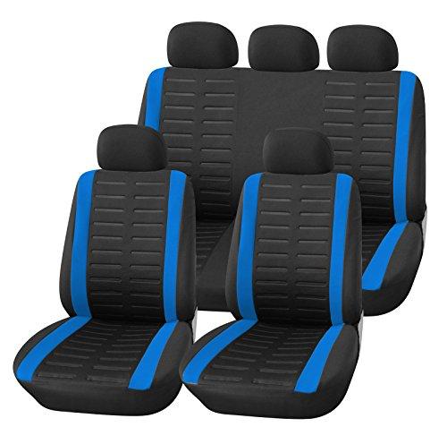 upgrade4cars auto sitzbez ge set universal schwarz blau ersatz bez ge f r die vordersitze. Black Bedroom Furniture Sets. Home Design Ideas
