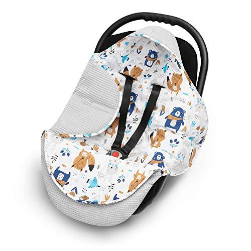 elimeli einschlagdecke f r babyschale baby decke f r autositz und kinderwagen aus waffelstoff. Black Bedroom Furniture Sets. Home Design Ideas