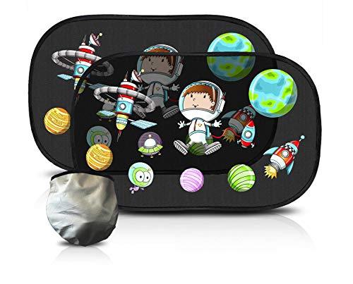 babyshine sonnenschutz auto baby mit uv schutz sonnenblende f r kinder 2er set mit motiv. Black Bedroom Furniture Sets. Home Design Ideas